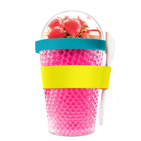 CY2GO-451-PINKJogo Box chłodzący pojemnik na jogurt lub owoce