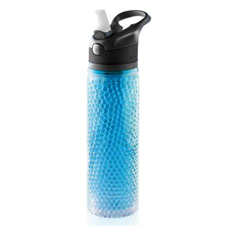 PF02-451-blue  butelka z mrożonymi kuleczkami w ściankach