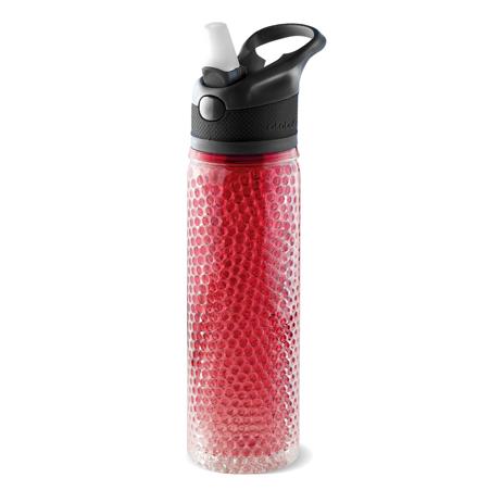 PF02-451-red  butelka z mrożonymi kuleczkami w ściankach